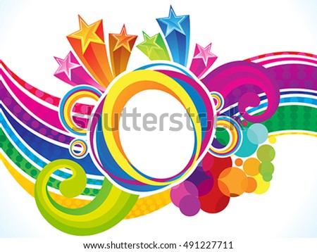 abstract rainbow magical explode vector illustration