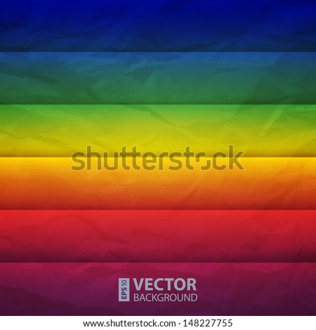 Abstract rainbow paper rectangle shapes vector background. RGB EPS 10 vector illustration