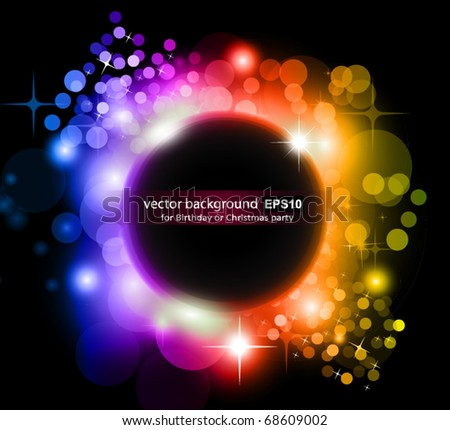 Abstract Rainbow Planet Background for Flyers - stock vector
