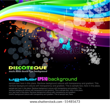 Abstract Rainbow Spectrum Background for Brochure or Flyers - stock vector
