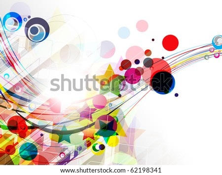 abstract rainbow wave line with sample text background. - stock vector