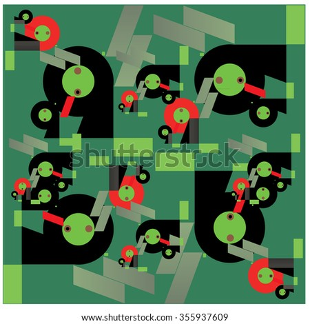 Abstract random and colorful shape background vector illustration
