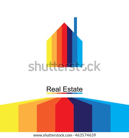 abstract real estate city circuit color business background
