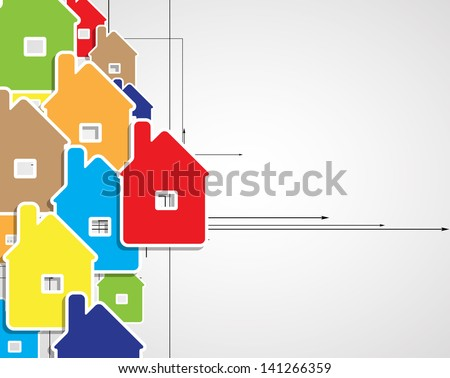 abstract real estate city circuit mirror business background