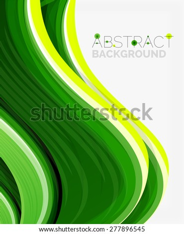 Abstract realistic solid wave background. Vector illustration - stock vector