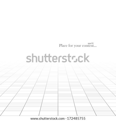 Abstract rectangle background. Perspective tiled floor. Vector illustration. - stock vector