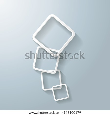 Abstract rectangles on the grey background. Eps 10 vector file. - stock vector