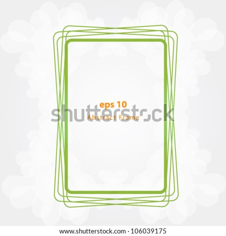 abstract rectangular frame vector - stock vector