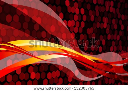 Abstract Red - stock vector