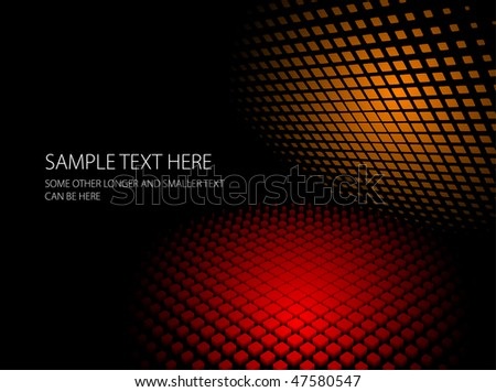 Abstract red and orange dynamic background - stock vector