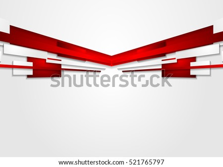 Abstract Red White Motion Technology Design Stock Vector 521765797 ...
