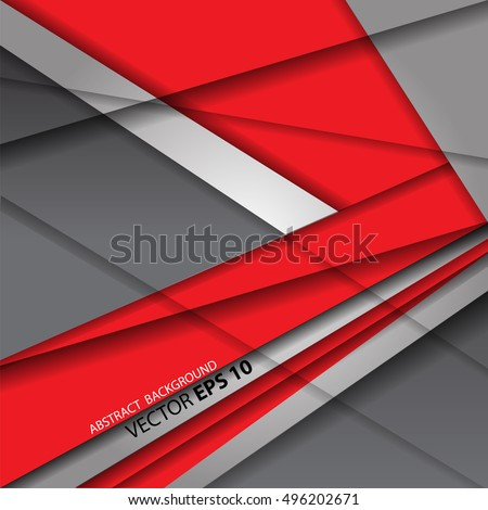 Abstract red arrow on gray tone background modern future design vector illustration.