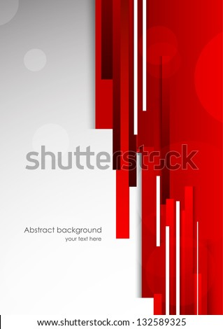 Abstract red background. Bright illustration - stock vector