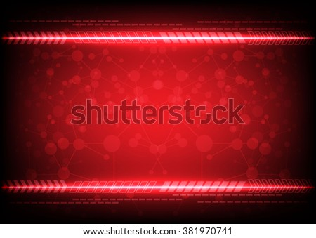 abstract red background technology concept. illustration vector design. - stock vector