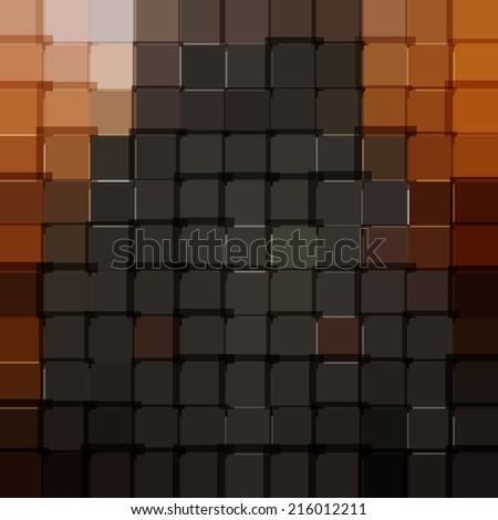 Abstract red background. the background of the grey squares