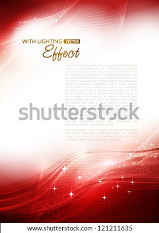 Abstract red background. Vector - stock vector