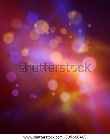 Abstract red background with bokeh defocused lights, vector - stock vector