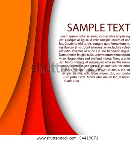 Abstract red background with custom text copy space - stock vector