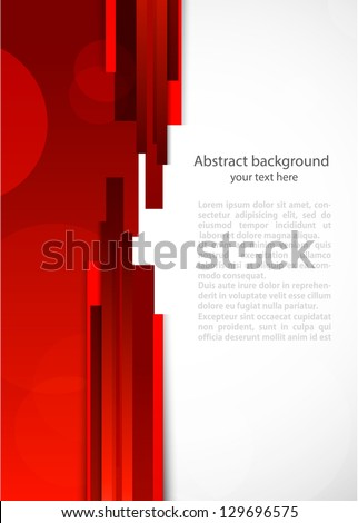 Abstract red background with lines - stock vector