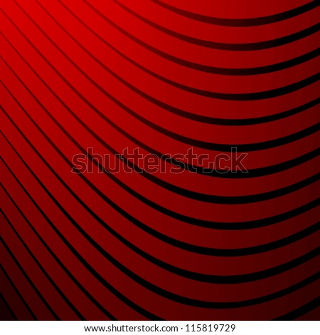 Abstract red background with stripes - stock vector