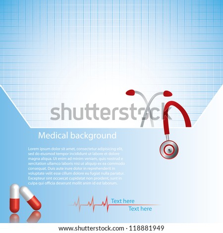 Abstract red blue medical background - stock vector
