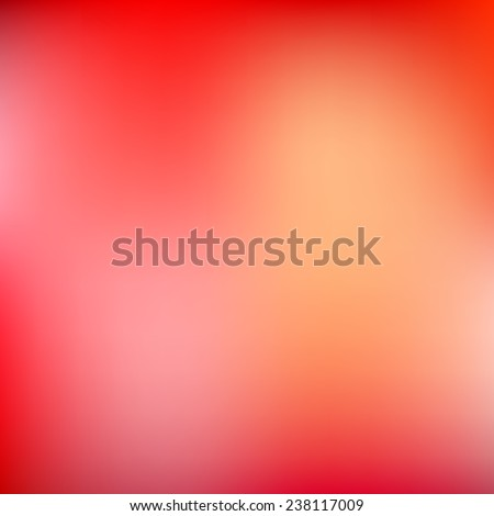 Abstract red blur color gradient background for web, presentations and prints. Vector illustration. - stock vector