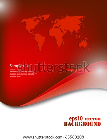 Abstract red business background. Vector eps10 illustration - stock vector