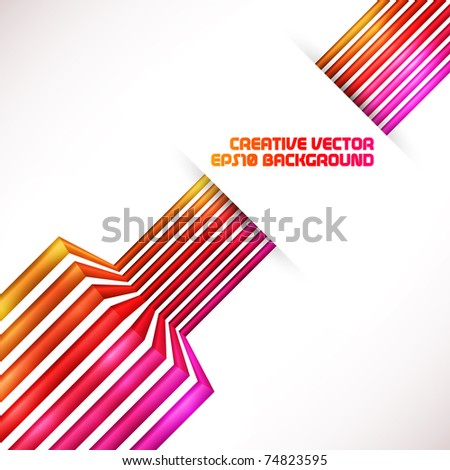 Abstract red 3d vector background - stock vector