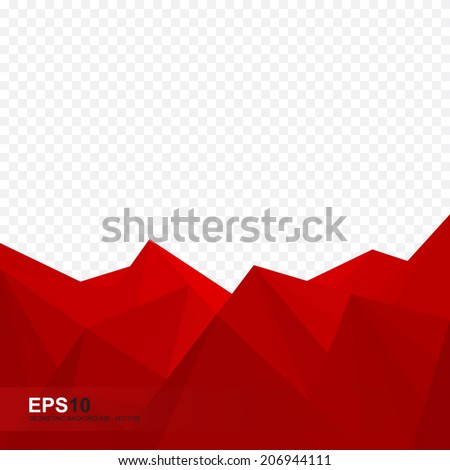 Abstract red geometric background - Vector - stock vector