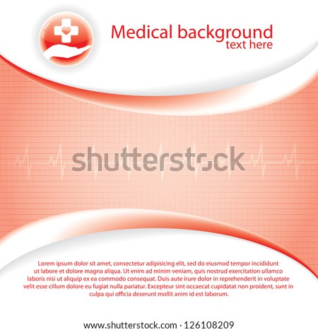 Abstract red grid medical background - stock vector