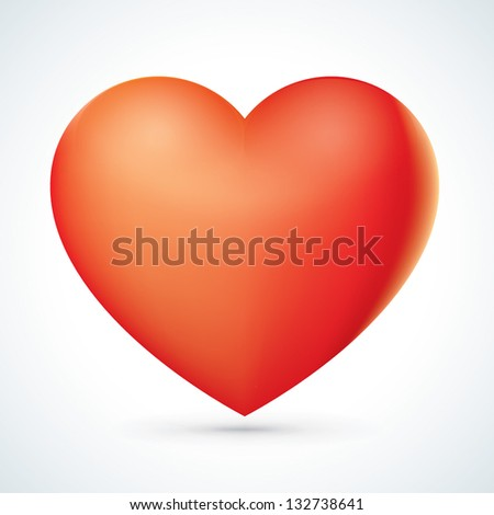 Abstract Red Heart Icon - stock vector