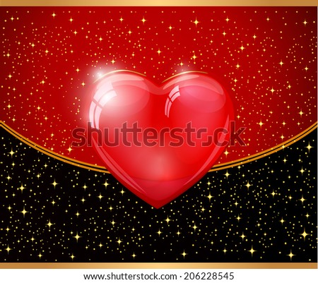 Abstract Red heart vector - stock vector