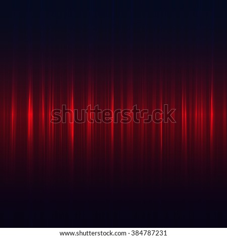 Abstract red music equalizer on black background. Vector illustration. - stock vector