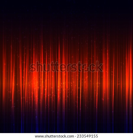 Abstract red music equalizer. Vector illustration. - stock vector