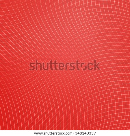 abstract, red net pattern over paper texture. vector background design - stock vector