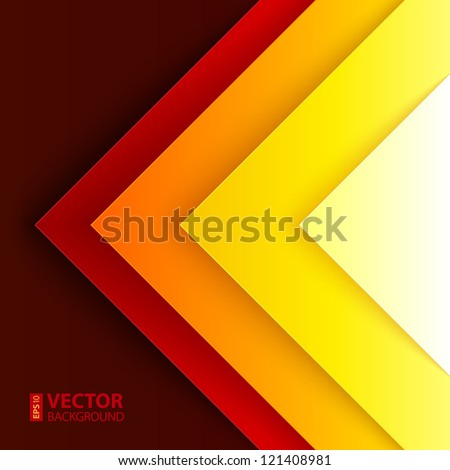Abstract red, orange and yellow triangle shapes vector background - stock vector