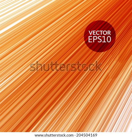 Abstract red orange striped background, vector illustration - stock vector