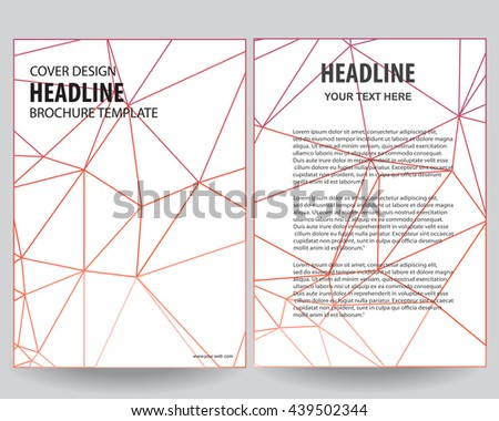 Abstract Red Outline Annual Report Leaflet Stock Vector Hd Royalty