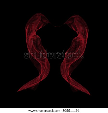 Abstract red smoke on black background