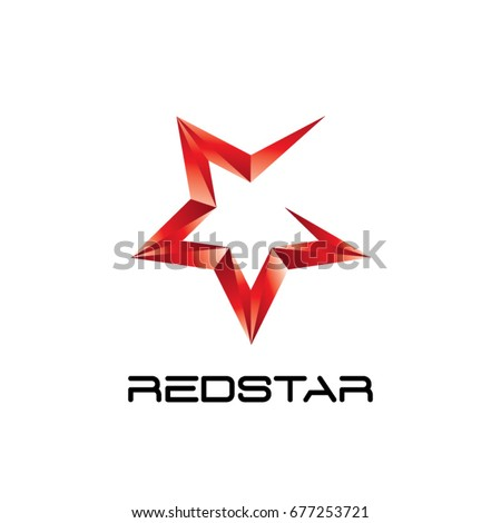 Abstract Red Star Logo Symbol Icon Stock Vector 677253721 Shutterstock