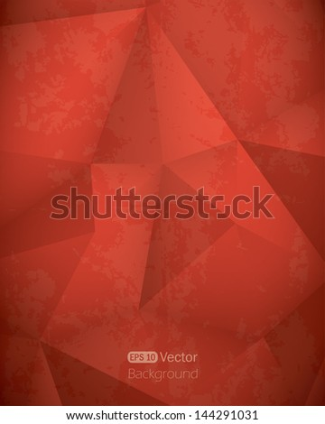 Abstract red triangle background.Vector illustration - stock vector