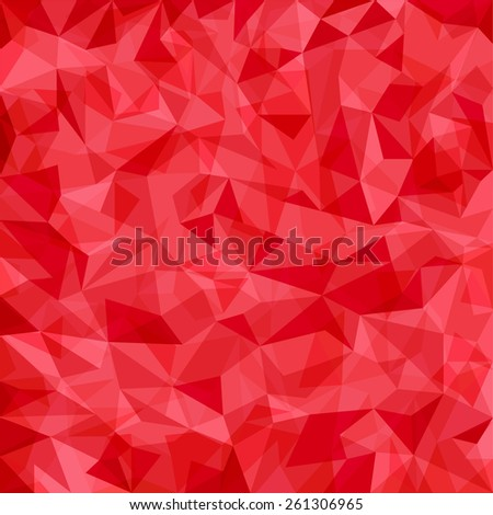 Abstract red vector mosaic pattern. Vector pattern with paper texture. Vector abstract background - stock vector