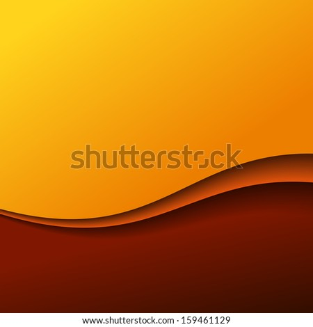 Abstract red wave background with stripes - stock vector