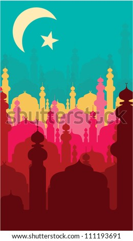 abstract religious background - stock vector