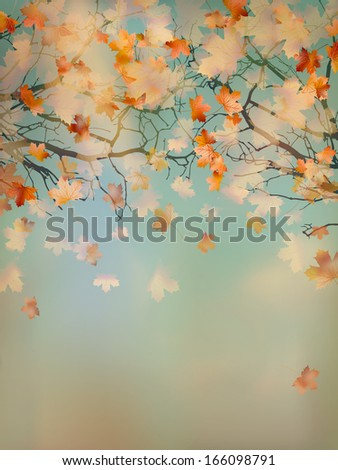 Abstract retro autumn background. And also includes EPS 10 vector - stock vector