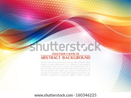 Abstract retro background. Vector - stock vector