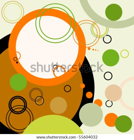 Abstract retro background with circles - stock vector