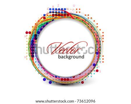 Abstract retro banner technology circles vector background. - stock vector