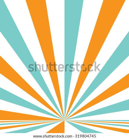 Abstract retro burst vector background. - stock vector