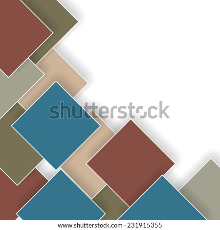 abstract retro business background with rhombus on white  - stock vector